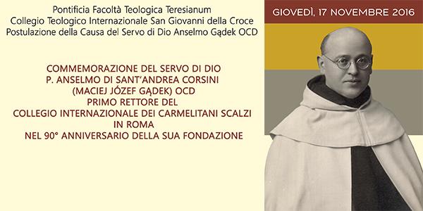 Commemorazione di p. Anselmo di Sant'Andrea Corsini