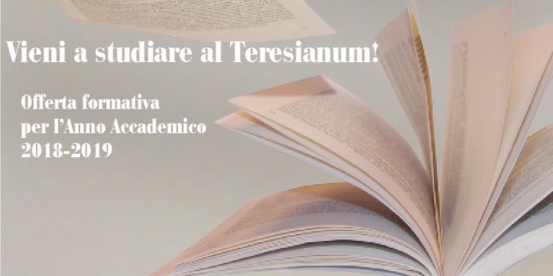 Unito Calendario Accademico.Offerta Formativa Anno Accademico 2018 2019 Teresianum