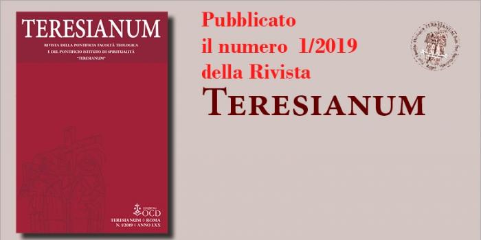 Pubblicato un nuovo numero della rivista Teresianum