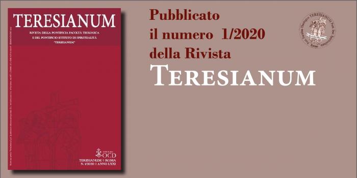 Pubblicato il numero 1/2020 della rivista Teresianum