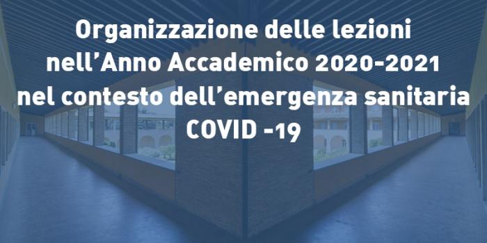 Organizzazione delle lezioni nel contesto dell'emergenza Covid-19