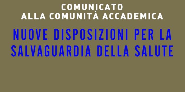 Comunicato alla Comunità Accademica